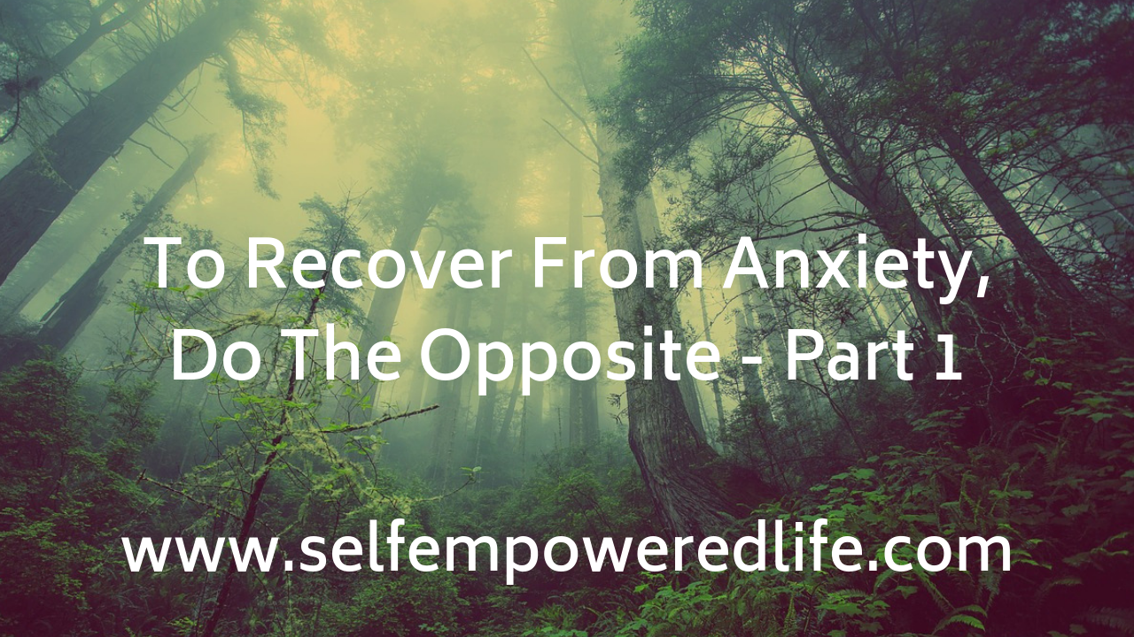 To Recover From Anxiety, Do The Opposite – Part 1