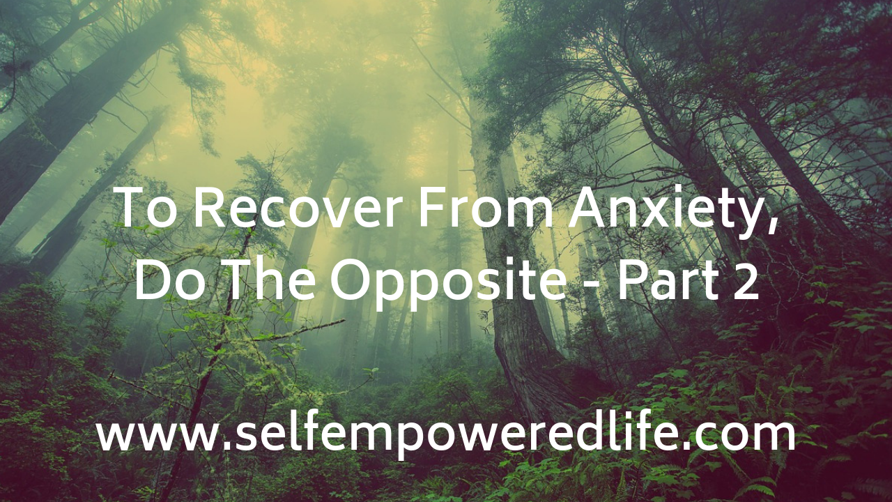 To Recover From Anxiety, Do The Opposite – Part 2