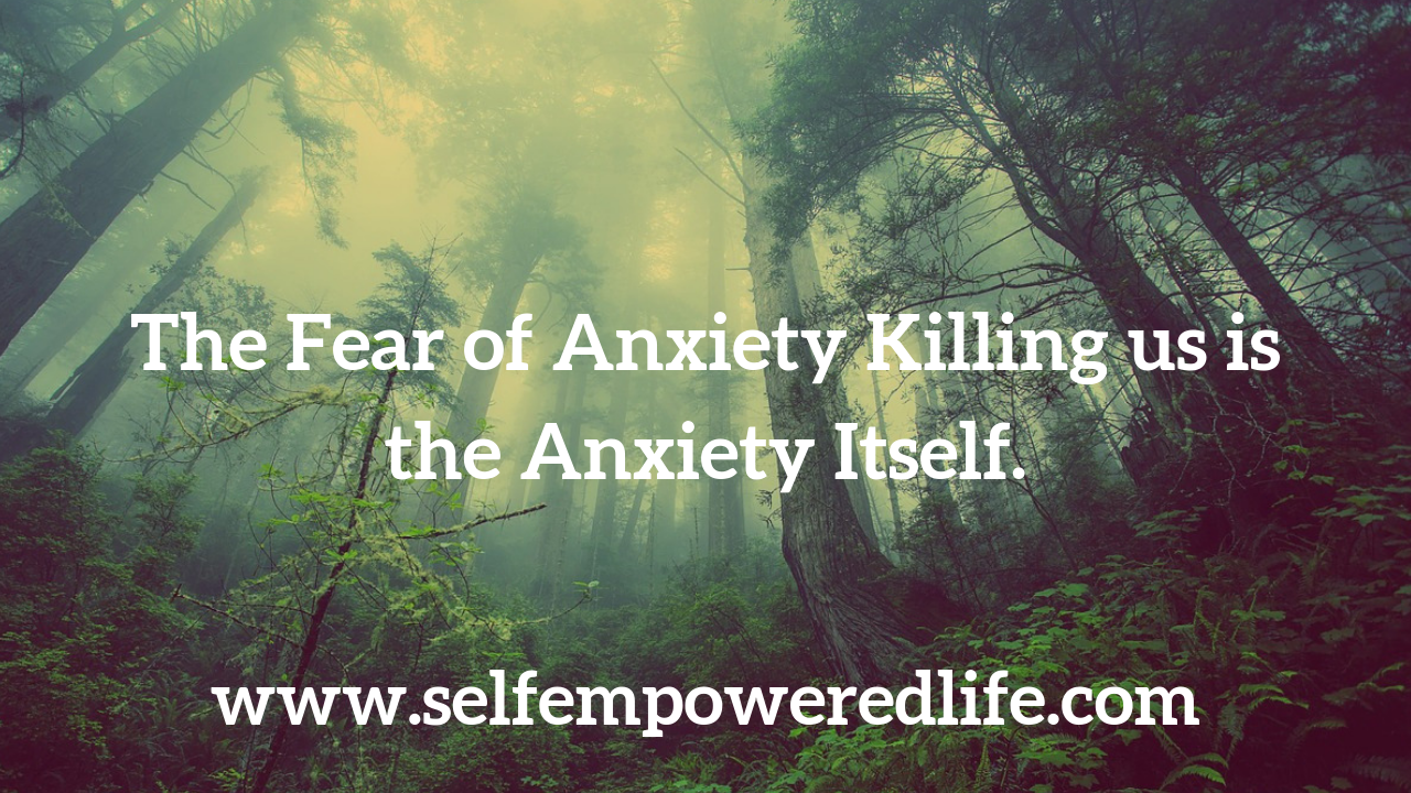 The Fear Of Anxiety Killing Us Is The Anxiety Itself