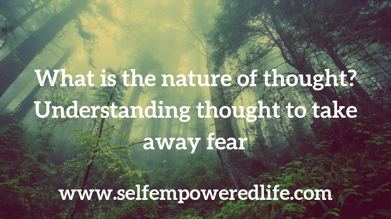 What is the nature of thought? Understanding thought to take away fear